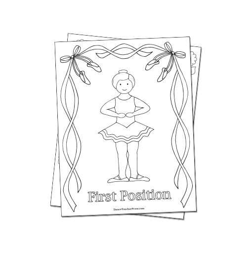 coloring pages ballet positions - photo#14
