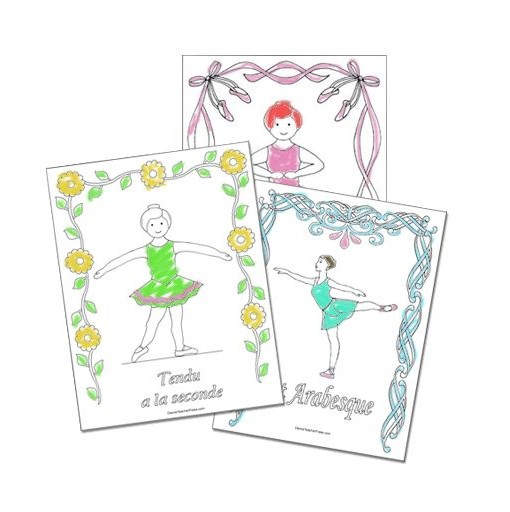 Ballet Coloring Sheets - Colored